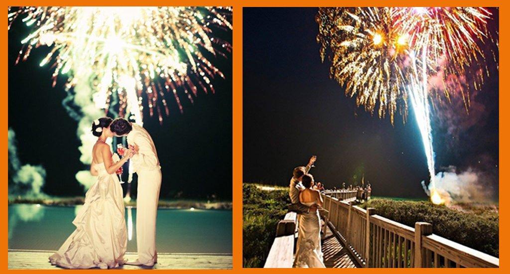 Tendances mariages 2021 feu d'artifice